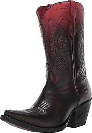 55bc4b530aa Ariat Womens Circuit Stella Western Boot Ombre Red Size 5.5 B Medium Us