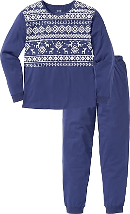 Bonprix Herr Pyjamas i blå lång ärm - bpc collection 9c85af8271bb9