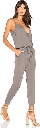 bobi Supreme Jersey Surplice Jumpsuit in Grey