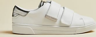 Ted Baker Leather Velcro Trainers in White VENI, Womens Accessories