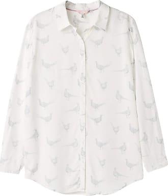 Joules Elvina Womens Button Front Woven Top - Cream Pheasants: 14
