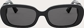 Valentino Valentino Occhiali Occhiale Ovale In Acetato Con Vlogo Donna Nero Acetato 100% OneSize
