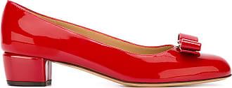 Salvatore Ferragamo Sapato modelo Vara de couro envernizado - Vermelho