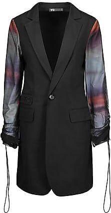 Yohji Yamamoto Woman + Adidas Originals Mesh-paneled Cotton Blazer Black Size S