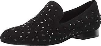 Donald J Pliner Womens LANASP-KS Loafer Flat, Black, 9 B US