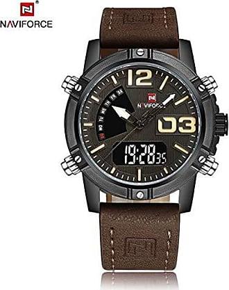 NAVIFORCE Relógio Masculino Naviforce 9095 Casual - Marron Preto