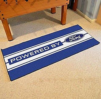 Fanmats NASCAR Ford Oval with Stripes Runner, 30 x 72/Small, Blue