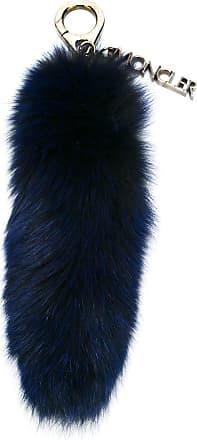 Moncler Chaveiro com pingente em pele - Azul