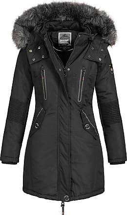 Geographical Norway Womens Jacket Winter Parka Jacket Coracle/Coraly XL-FELLKAPUZE - Black II, L