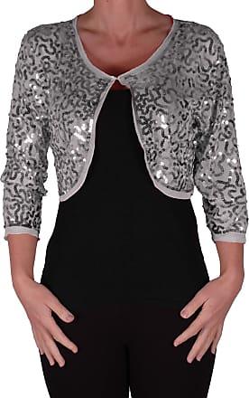 Eyecatch Scarlett Sequin Chiffon Long Sleeve Top Bolero Shrug Cardigan