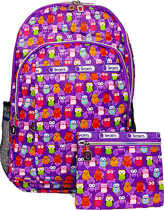 GFM Happy Backpack Colourful Owl Bag For School, Gym, Holidays, Beach, Casual Bag (S1-6215-MOT-JMN)