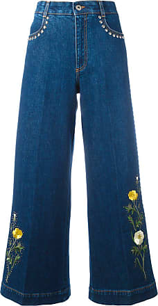 Stella McCartney floral patch flared jeans - Blue