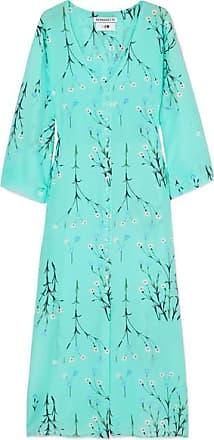 b36d80f5b9 Bernadette Floral-print Silk Crepe De Chine Midi Dress - Blue