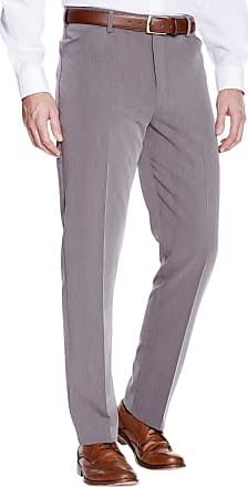 Farah Mens 4 Way Stretch Poly Trouser Pants with Frogmouth Pocket Grey 40W / 33L