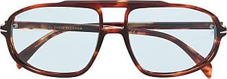 David Beckham Armação de óculos aviador DB 1000 - Marrom