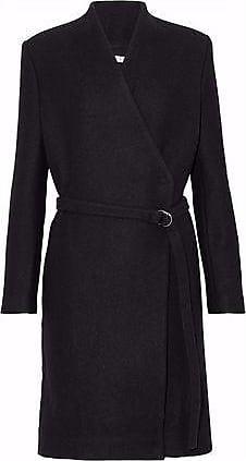 Iro Iro Woman Belted Wool-blend Coat Black Size 40