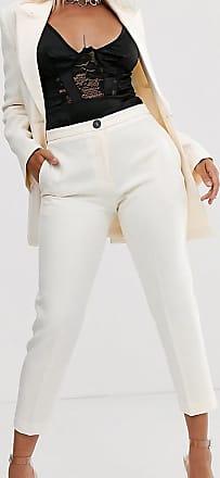 Asos Petite ASOS DESIGN Petite - Pop - Schmale Anzughose in Elfenbein-Weiß