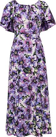 Dolce & Gabbana Patterned Dress Womens Purple