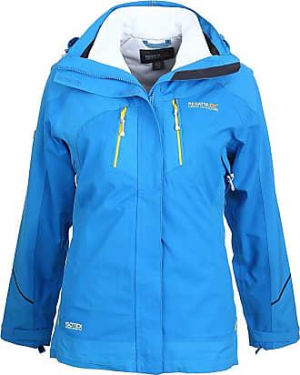Regatta MARALIN 3in1 Waterproof Jacket French Blue/White - Size 8