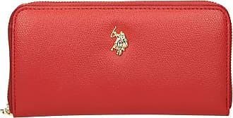 U.S.Polo Association U.S. POLO ASSN. Jones L Zip Around Wallet Red