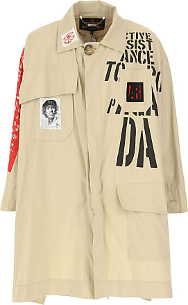 Vivienne Westwood Mens Coat On Sale in Outlet, Beige Stone, Cotton, 2017, L-XL