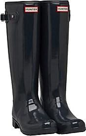 Hunter Original tall wellington boots with a gloss finish