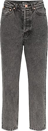 We11done Calça jeans cropped com lavagem - Preto