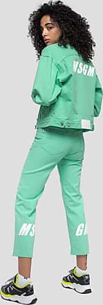 Msgm denim pants with combinable print