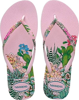 Havaianas Womens HAV Slim Sensation Crystal Rose Flip-Flop, Multicolor (Navy Blue), 3 UK