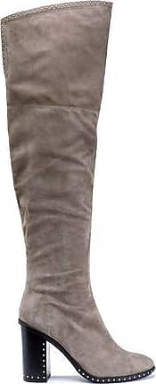 f437abac256 Sigerson Morrison Sigerson Morrison Woman Mars Studded Thigh Boots Taupe  Size 10