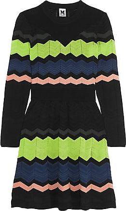 19ed37c240 M Missoni M Missoni Woman Striped Crochet-knit Mini Dress Black Size 36
