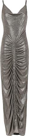 Tufi Duek Vestido longo metalizado - Cinza