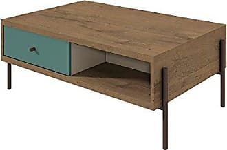 Manhattan Comfort 350642 Joy Series Modern Double Sided Coffee Table, Blue