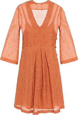 The Crocale Ada Silk Mini Dress Blush