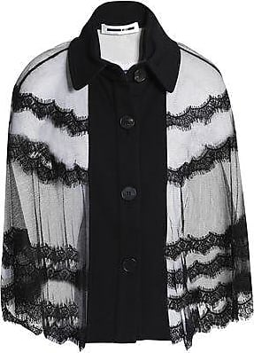 McQ by Alexander McQueen Mcq Alexander Mcqueen Woman Lace-trimmed Tulle And French Terry Cape Black Size XXS