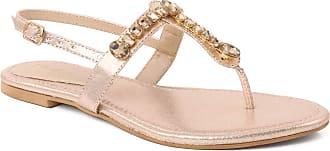 Unze Unze Women KIA Flat Heel Ankle Strap Sandals UK Size 3-8 - MHK004 Gold