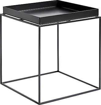 HAY Tray Beistelltisch M - schwarz/pulverbeschichtet/LxBxH 40x40x44cm
