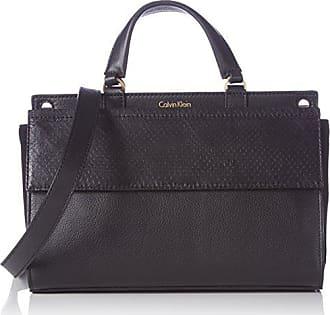 8995f426ba21 Calvin Klein JeansSHARI SNAKE SMALL FLAP SATCHEL - Borsa con Maniglia Donna,  Nero (Schwarz