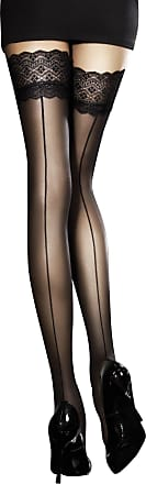 Fiore 30 Denier Sheer Hold Ups - Available in Black, White or Red (Medium, Red)