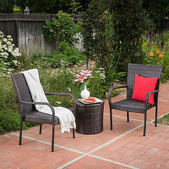 BEST SELLING HOME Outdoor Baelish 3 Piece Wicker Patio Chat Set - 299427