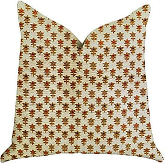 Plutus Brands Rosy Posse Double Sided Luxury Throw Pillow 24 x 24 Tan/Orange