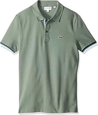 d6b6a9e83b6b80 Lacoste Mens S S 2 PLY Pique Slim FIT Striped Bottom Sleeve Polo