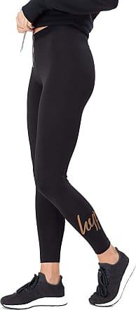 Hype Glitter Script Womens Leggings Black