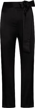 USISI SISTER Gemma tie-waist cropped trousers - Preto