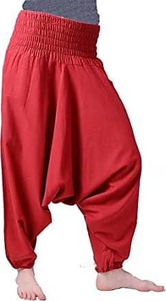 Luftig sommerliche Schlupfhose Crêpe-Qualität Stoffhose Hose Damen Rot B.C.