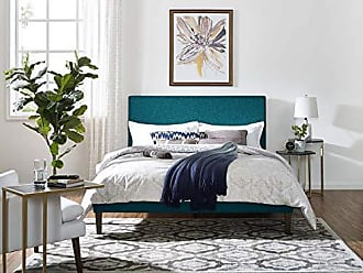 ModWay Claire Linen Fabric Upholstered King and California King Headboard in Teal