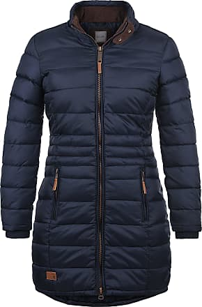 Blend Carlotta Womens Quilted Coat Parka Outdoor Jacket with Funnel Neck, Size:M, Colour:Navy (70230)