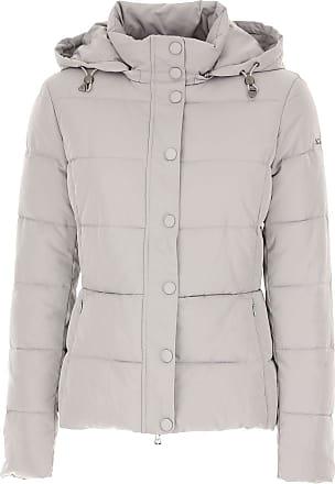 Emporio Armani Daunenjacke für Damen, wattierte Ski Jacke Günstig im Sale,  Perlengrau, Polyamid cb6b7067f4