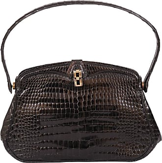 8d1142cd283 1stdibs Chic Black Crocodile Evening Bag Hallmarked Sterling And Gold Clasp