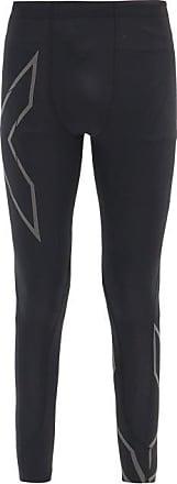 2XU Reflective-logo Compression Running Leggings - Mens - Black